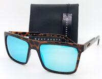 NEW Quay Let It Run Sunglasses Tort Blue Mirror AUTHENTIC Mens Polarized Square