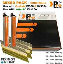 MIXED PACK 2000 x Framing Nails,D-Head +2 Fuel cells for PASLODE IM350 / IM350+