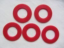 5 x Anello Rosso PEZZI DA GIOCO VINTAGE BOARD GAME OF Fives Ariel RICAMBIO RICAMBI