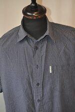 Ben Sherman blue short sleeve shirt size large mod casual