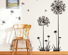 Big Black Removable Romantic Dandelion Wall Sticker Decal Vinyl Art Home Decor U