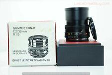 Leica Summicron-R 35mm f/2 MF 3 Cam Lens Boxed #3087988