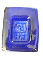 Vide poche en verre bleu tête de robot