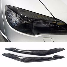 Real Carbon Fiber Headlight Eye Line Garnish For BMW X5 E70 2010~2012