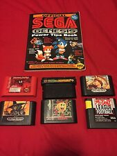 Sega Genesis game lot 6 Games And Tips Book, Carnage Sonic And Knuckle More!