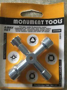 Original MONUMENT 2059M Multi-Purpose 4 Way Key. Multiple Use!!. UK Made