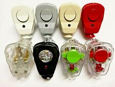 Schukostecker mit Schalter + Diode Winkelstecker transparent EU Premium Qualität