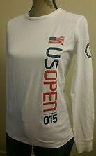 New listing Polo Ralph Lauren Women Sz M Flag Tennis Us Open 2015 Shirt White Thespot917