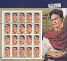 USPS Sheet of 20 Stamps Frida Kahlo Mexican Artist Painter Portrait Art Pane MNH
