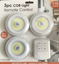 3pc COB Light Remote Control - 110 Lumens