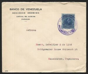 Venezuela 40 Centimos Cover To Manchester