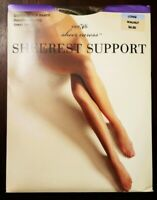 Details about  /JCPenney Sheer Caress Long Pewter 88 Extra Sheerest Support Pantyhose Sandlefoot