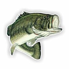 Largemouth Bass Fish Decal / Sticker Die cut