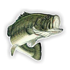 Largemouth Bass Fish Decal / Sticker Die cut