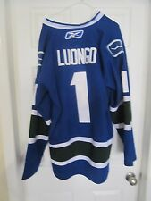 Luongo CCM Reebok Pro Style Canucks Jersey.Stitched YOUR CHOICE Size 48 OR 52