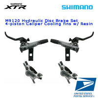 NEW Shimano XTR BR M9120 4 Piston Disc Brake Set Cooling Resin Hydraulic Sliver