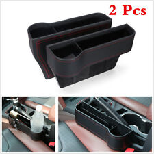 Car Seat Seam Wedge Drink 2pcs Leather Cup Holder Bottle Storage Organizer