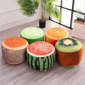 1pcs inflatable Stool thickening Cotton Cover Cartoon Plush 3D fruit inflatable