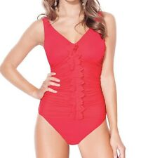Profile by Gottex NEW 2pc Swimsuit Ruffle Swimwear Bathing E353-1D47 32D