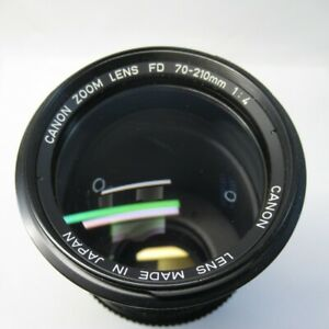 Canon Zoom Lens FD 70-210mm 1:4 Telephoto FD-Mount Made in Japan