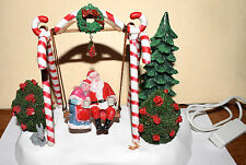 Estate=Christmas or *Train village:Lemax Mr & Mrs Claus Under the Miseltoe-Swing