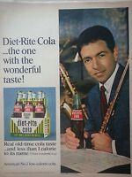 1967 Diet-Rite Sugar Free Cola Soda Carton Bottles Paul Horn Jazz Musician Ad