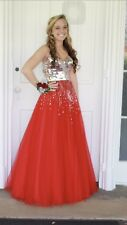 size 0 sherri hill red prom dress