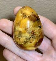 Vintage Natural Baltic Amber Solid Egg - 35 Grams