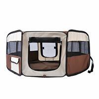 "37"" Pet Playpen Soft Dog Cat Exercise Pen Soft Kennel Crate Portable Folding"
