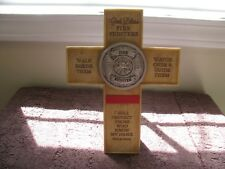 Fire Fighter Wall/Table Top Cross  ~Great Gift Idea~ New