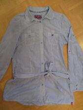 TOP Zustand! edc by Esprit Bluse Hemd lang blau weiß gestreift Bindegürtel Gr. M