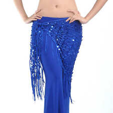 Belly Dance Hip Scarf Costume Belt Triangle Meshy Hip scarf Fringes Tessels