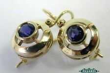 Marvelous 14k White Gold Iolite Designer Earrings