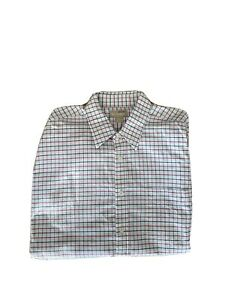 Back Bay Heritage Men's Big And tall Long Sleeves Checked Dress Shirts Size XL