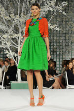 NWT OSCAR DE LA RENTA – Gorgeous Orange Silk Crochet Knit Bolero – Size M