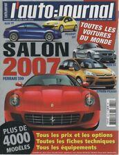L'AUTO JOURNAL 2006 702 SALON DE L'AUTOMOBILE TOUTES LES VOITURES DU MONDE 2007