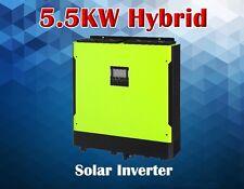 5500w Hybrid Solar inverter 48v 230vac PV input 500v , Grid tied solar +off grid