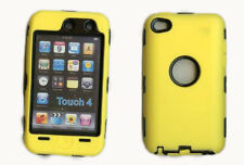 Best Protection Case / Cover for iPOD TOUCH 4 YELLOW / BLACK Free Stylus!!!