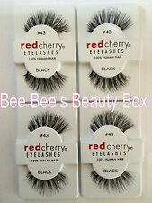 *4 Packs Genuine Red Cherry 43 'Stevi' False Eyelashes/Lashes, 100% Human Hair*