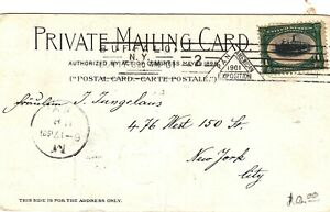 Scott #294 on 1901 Pan-American Exposition Postcard w/ Exposition Cancellation