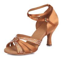 Women's Girl 's Ladies Ballroom Latin Tango Party Dance Shoes high quality 409