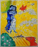 Surrealism Original Painting After Marc Chagall Gouache & Ink on Paper 8x10""