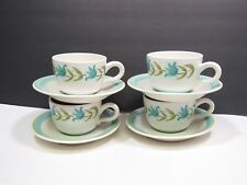 4 Franciscan Tulip Time Cups and Saucers