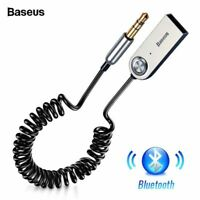 [ES] Baseus Handsfree USB Aux Bluetooth Adapter Dongle Cable For Car 3.5mm Jack