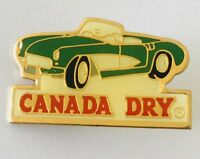 Canada Dry Ginger Ale Green Convertable Advertising Pin Badge Vintage (H10)