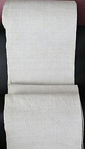 Antiker handgewebter Ballen mittelfeines Bauernleinen * 1360 x 66 * um 1900 *