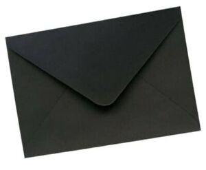 20 C6 black envelopes Halloween invites mailing fit A6 100gsm label