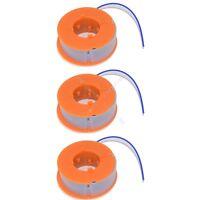 3 x Strimmer Trimmer Spool And Line Fits Bosch ART26 Easytrim