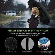 Automatic Umbrella Anti-UV Sun/Rain Windproof Black 3 Folding Compact Umbrella