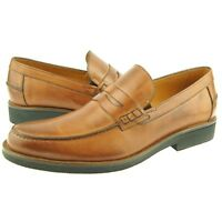 Charles Stone Penny Loafer, Men's Dress/Casual Slip-on Leather Shoes, Cognac
